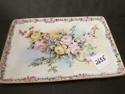 T And V Limoges 11 3/4 X 7 3/4 Inch Dresser Tray Beautiful Roses Artist Signed 1