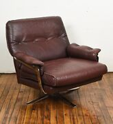 Arne Norell For Vatne Mobler Buffalo Leather Lounge Chair
