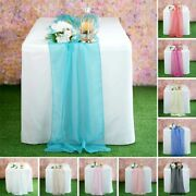 30 Chiffon Table Top Runners 22x80 Party Wedding Reception Decorations Sale