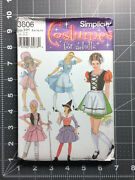 Simplicity 3602 Pattern Maid Witch Apron Dress Misses 6 8 10 12 Ff Uc