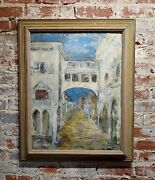 Dorothy Brown - Venice View - 1956 Oil Painting