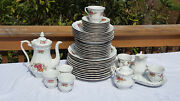 45 Pcs Vintage Baum Southington Walbzych Dinnerware Vienna Rose Made In Ploand