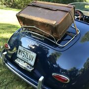 Rare Vintage 1930's Herrods Featherweight Leather Luggage Rack Suitcase R1558