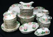 Franciscan China Desert Rose Usa 97-piece Set Service For 12 - 13 Serving Pieces