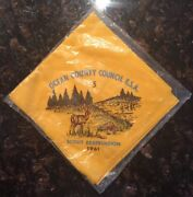 1961 Boy Scout Ocean County Council Bsa 5 Scout Reservation Neckerchief Sealed