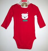 Carters 'my First Christmas' Body Suit Size 0-3 M Brand New W Tags