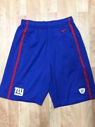 Nike Boys Small Red And Blue Equipment Nfl New York Giants Training Shorts Euc