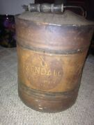 Kendall 2000 Mile Motor Oil 5 Gallon Can Wood Handle Antique Vintage Metal Rare
