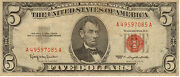 1963 Us Note Red Seal Medium To High Grade Note N-71