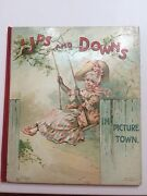 Ups And Downs In Picture Town Antique Nister Movable Childrenand039s Book Wain Cats Vg