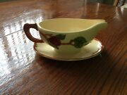 Franciscan Ware Apple Pattern Gravy Boat Tv Screen Backstamp Dinnerware 1960and039s