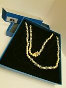 New Heidi Daus Clear Resin And Simulated Pearl Necklace