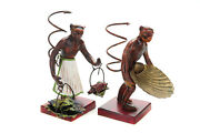 Vienna Cold Painted Bronze 6 Monkey Figurines C.1920s -a Pair