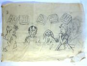 Original Game Sketches Legendary Scrabble 1950and039s Israel Lot Of 2