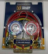 Yellow Jacket 42004 Refrigeration Manifold With 60 Hoses R-22 / 404a / 410a