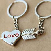 Love Heart And Arrow W/ Keychains Candle, 6 High X 5.5 X 5.5