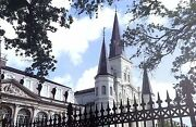 St.louis Cathedral And Cabildo New Orleans By Britt Johnson Signed/numbered Canvas