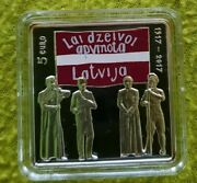 Latvia 5 Euro Andeuro 2017 Silver Proof Unc Latgales Congress Low Mintage Best Price