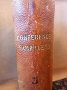 Conference Pamphlets Lds Mormon, Conference Report Bound 1/4 Leather, 1905-1908