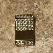 Swan Signed Crystal Slot Machine With Lots Of Crystals Brooch Pin