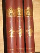 Peoples Library For The Farm And Home School Rand Mcnally Rare 1883 3 Volume Set