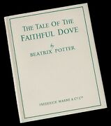 Beatrix Potter -tale Of Faithful Dove- Warne 1955 1st Edition Only 100 Published
