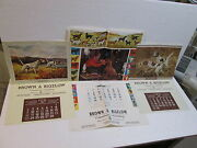 3 Vintage 1960s-70s Brown And Bigelow Dog Themed Advertising Calendars Fenelle +