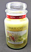 Retired Yankee Candle -wild Sea Grass- Large Candle Jar 22 Oz Great Scent
