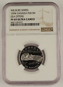 Canada 1994 150 1/2 Oz Platinum Proof Coin Ngc Pf69 Wildlife Series Sea Otters