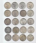 90 Silver Lot Mixed Roll Of 20 Peace Dollars All 1925