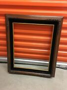 Picture Frame Brown 22 X 22.5 With Corner Flower Design Holds 16x 20 Photo