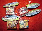 Collectible Lot Of 1997 Basic Fun Lunch Box Keychains Collection Of 4 Nwt/mint
