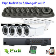 16channel 5mp Network Hdmi Nvr 2592p Onvif Ip Ip66 12pc 124 Poe Security Camera