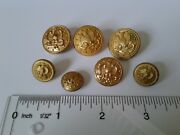 Authentic Us Navy Usn Officer Uniform Buttons Left Facing