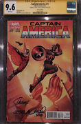 Captain America 17 2014 Marvel Cgc 9.6 Ss Rags Morales Variant Cover Wp