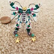 Liztech Papillon Butterfly Soul Transformation Pin Signed Dated Whimsical Funky
