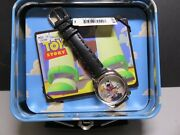 Disney Toy Story Le Fossil Collectors Watch In Lunchbox Tin. See Photos