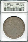 Great Britain - Beautiful George Iv Silver Crown, 1822, Km 380.2, Anacs Vf 30