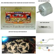 Mr Christmas World's Fair Bump And Go Racers Replacement Motor Part Kit.