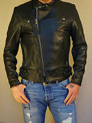 Vanson Chopper With Black Lining And Competition Weight Leather Jacket In Stock