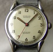 Mens Wwii Period Marvin Good Collection Condition Wristwatch Military Style