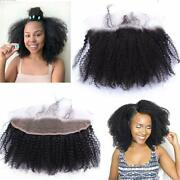 Afro Kinky Curly Lace Frontal Closure 13x4 Ear To Ear Human Hair Lace Closure