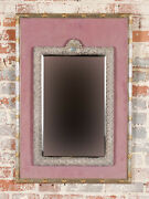 19th Century Sterling Silver Mirror With Beautiful Repousse Design