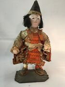 Late 1800and039s Japanese Traditional Antique Ichimatsu Warrior Doll