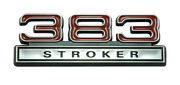 383 Stroker 6.3l Engine Emblem Badge Logo With Red And Chrome Trim - 4 Long