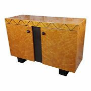 Leon Rosen For Pace Collection - Burl Wood Two Door Buffet