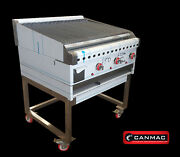 Canmac 3 Burner Flame Grill Charcoal Grill With Full Griddle Chargrill Bbq Grill