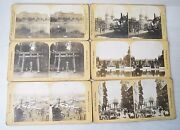 Vintage Collectible Lot Of 6 Stereoview H.c. White Co. U.s.a Worldwide 1900