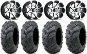 Itp Twister 14 Wheels Machined 27 Zilla Tires Yamaha Grizzly Rhino