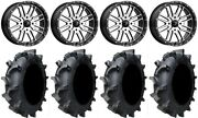 Msa Machined Brute 18 Utv Wheels 35 Interforce 628 Tires Rzr Turbo S / Rs1